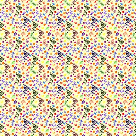 Simple cute pattern in small-scale flowers. Millefleurs. Liberty style. Floral seamless meadow background for textile or book covers, manufacturing, wallpapers, print, gift wrap and scrapbooking. Ilustrace