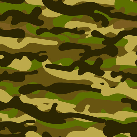 Texture camouflage military repeats seamless army illustration. Camouflage seamless pattern. Trendy style camo, repeat print. Vector illustration Иллюстрация