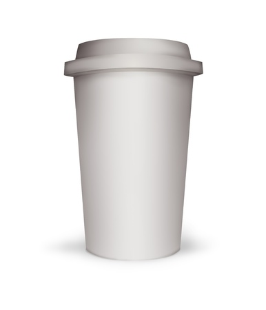 Paper coffee cup illustration Stock Illustration - 15148304