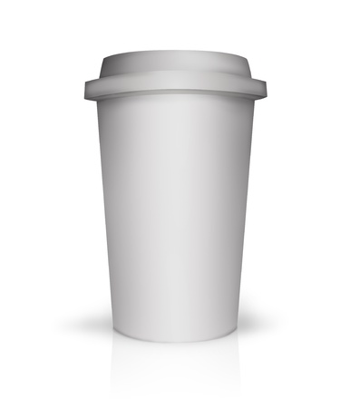 polystyrene: Paper coffee cup illustration with no text
