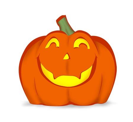 Halloween pumpkin with happy smile Stock Photo