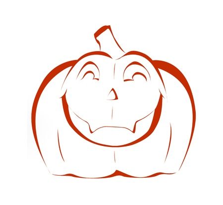 Halloween pumpkin silhouette with happy smile Stock Photo - 15148309