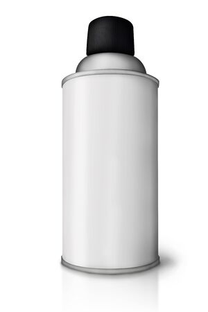Blank spray paint can over white background  Stock Photo - 16415147