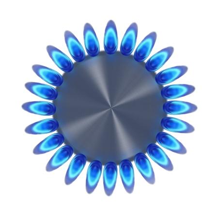 Anillo de gas azul en la oscuridad de la ilustración superior Foto de archivo - 16415213