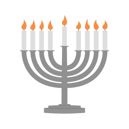 Hanukkah candles all candle lite on the traditional Hanukkah menorah  Stock Photo - 16415145