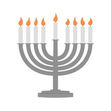 Hanukkah velas toda vela lite en el menorah tradicional de Hanukkah Foto de archivo - 16415145