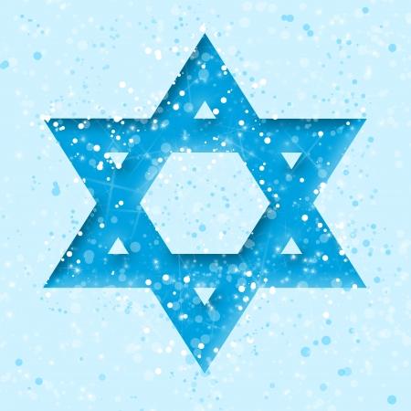 Star of David on blue  photo