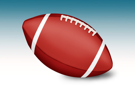 American football balls on gradient background photo