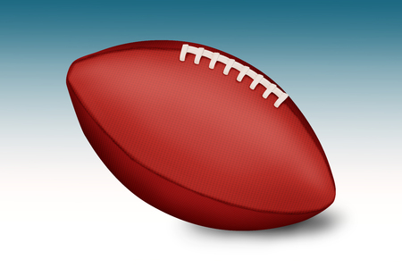 pumped: American football balls on gradient background