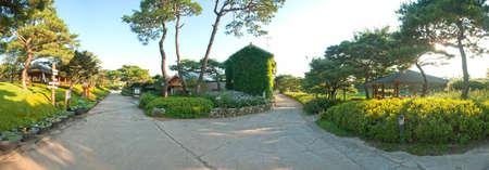 Landscape of outdoor garden, South Korea