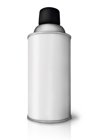 Blank spray paint can over white background