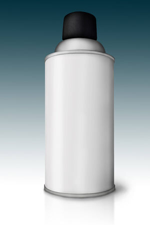 Blank spray paint can over gradient background  photo