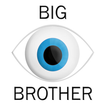 big brother spy: Illustration of a big eye watching at everyone
