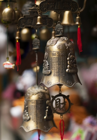 unclosed: Traditional bells used in Eastern Asia Stock Photo