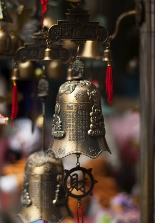 unclosed: Traditional asian bells  Stock Photo