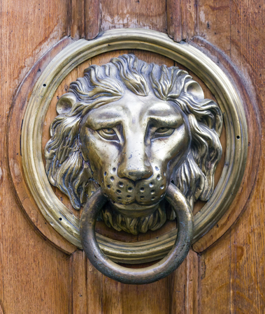 old handle as lion head