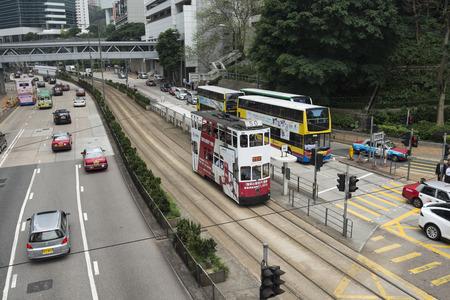 Skyscraper in city view (Queensway, Admiralty in Hong Kong) Redakční