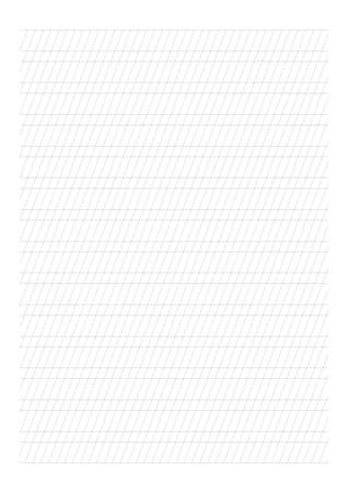 Handwriting Paper - A4 sheet, Blank horizontal lines with diagonal guide lines, cursive practice paper for elementary school and calligraphy