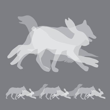 three animals: Elemento di design composto da tre animali Vettoriali