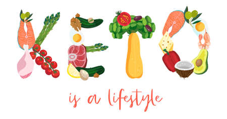 KETO is a lifestyle. Concept diet banner