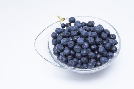 bilberries: bilberries on the white