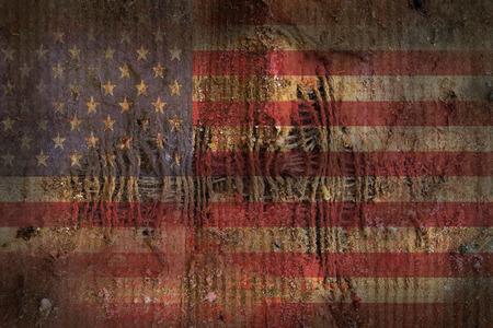 USA flag Grunge old vintage Stock Photo