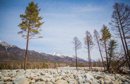 river scape: stone river Stock Photo