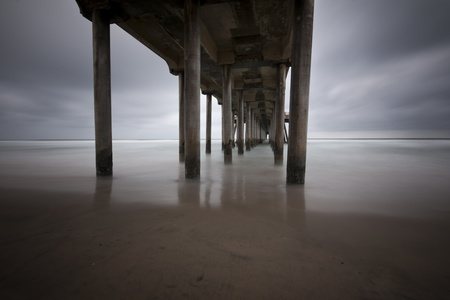 Under the Hungtington Beach Pier photo
