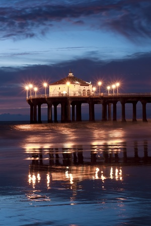 Manhattan Beach Pier Evening  photo