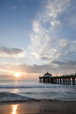 Manhattan Beach Pier Sunset photo