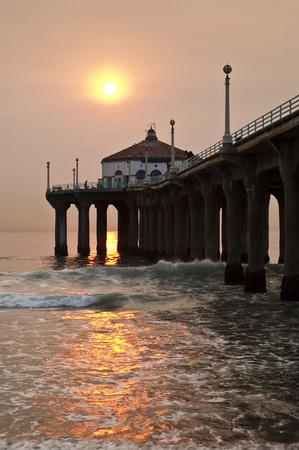 Manhattan Beach Smokey Sunset photo