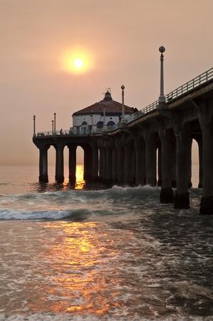 Manhattan Beach Smokey Sunset