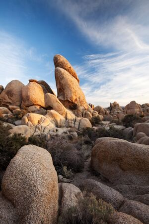 joshua tree national park: Joshua Tree National Park Rock Formation Stock Photo