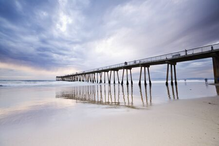 hermosa beach: Hermosa Beach Pier Sunset