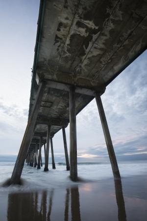 Hermosa Beach Pier Stormy Sunset