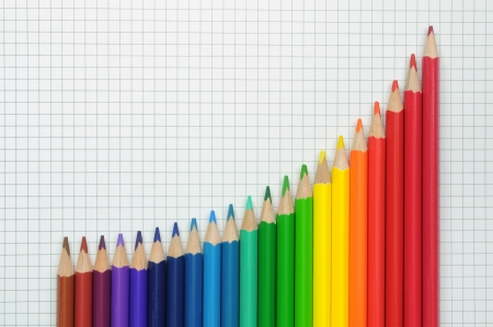 A group of multicolored pencils. Stock Photo - 16939394