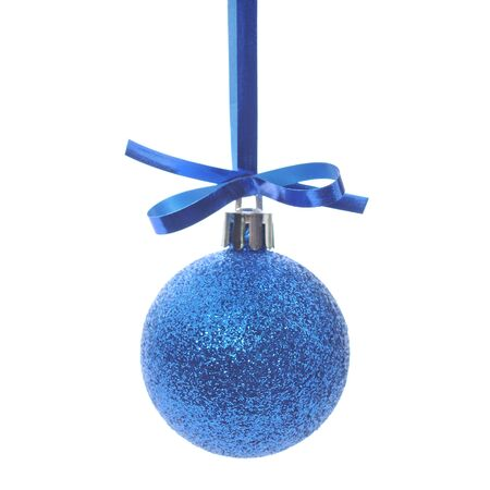 Blue Christmas Ornament isolated on white