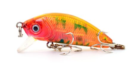 Bait for fishing - wobler isolated on white background.