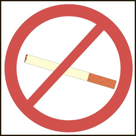 no smoking mark illustration Illustration