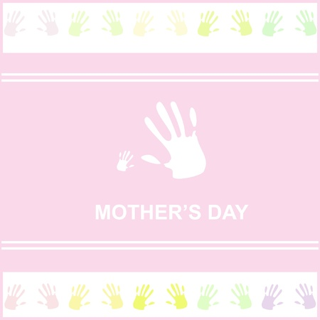 gift card for mothers day with hands Stock Vector - 15354082