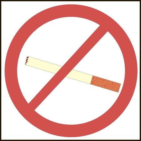 no smoking mark illustration Illusztráció
