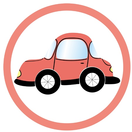 stop car sign Vector