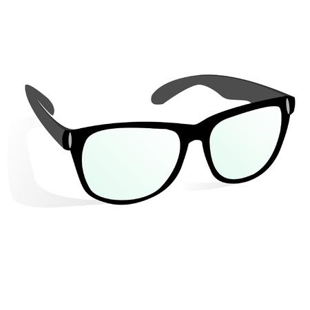 glasses in business style, black  Vector