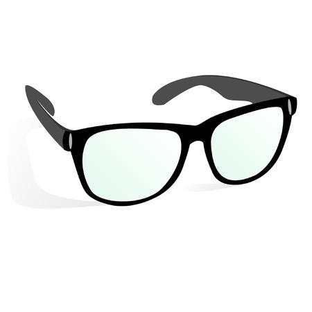 eyewear glasses: glasses in business style, black