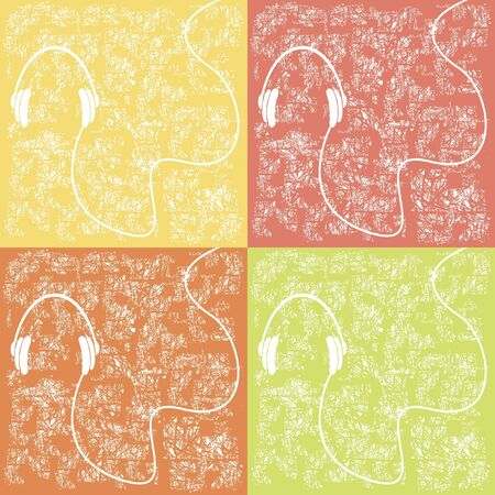 headphones on a torn background Stock Vector - 15354526