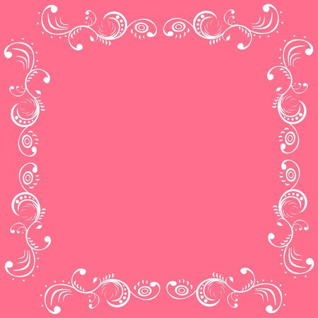 frame in white and pink color Stock Vector - 15354266