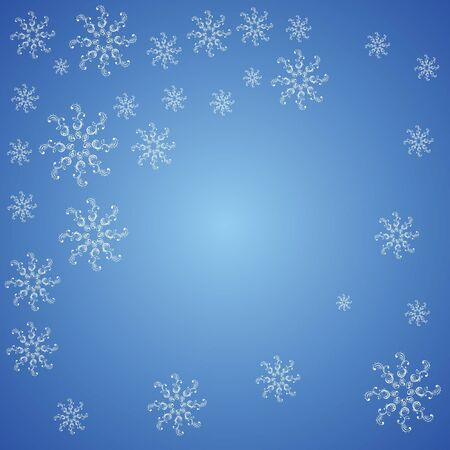 Christmas snowflakes on a blue background Vector