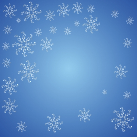Christmas snowflakes on a blue background Illustration