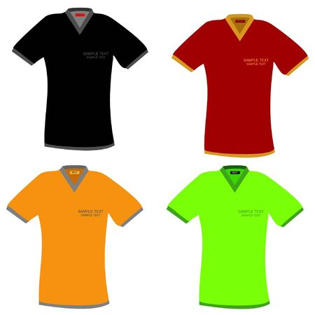 T-shirts in different colors Vector