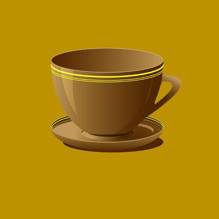 brown cup Stock Vector - 15354381